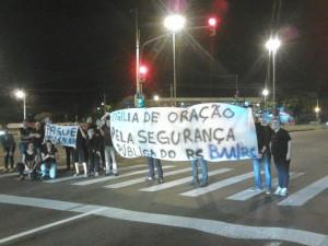 Protesto na frente da residência do governador Sartori. Foto: Axi Moncorvo